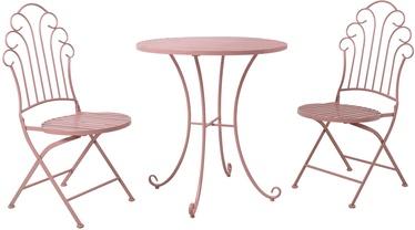Sodo baldų komplektas Home4you Rosy K40062, rožinis, 2 vietų