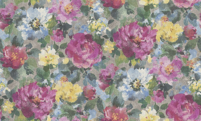 Flizelino tapetai, Rasch, 958539, Alla Prima, žali, su gėlėmis