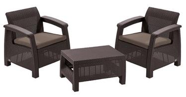 Keter Corfu Weekend Furniture Set Brown2
