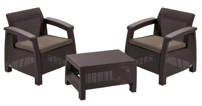 Keter Corfu Weekend Furniture Set Brown2