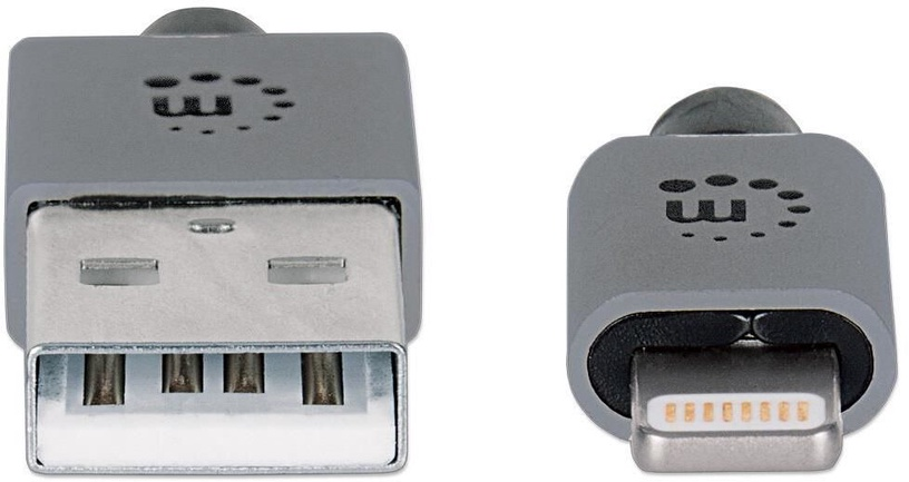 Manhattan iLynk USB-A to Lightning Cable Gray