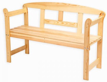 Folkland Timber Garden Bench Friiz Box Natural