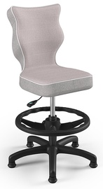 Детский стул Entelo Petit CR08, черный/розовый, 350 мм x 950 мм