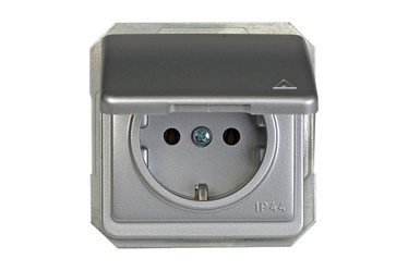 Kištukinis lizdas Vilma LX200, su įžem, metalo sp, IP44