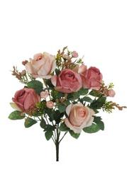 Dirbtinių rožių puokštė, 37 cm