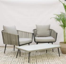 Sodo baldų komplektas Domoletti Coconut, stalas+du krėslai