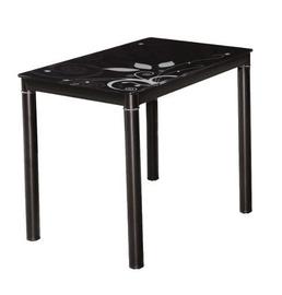 Pusdienu galds Signal Meble Modern Damar, melna, 600x800x750mm