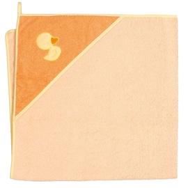 Ceba Baby Bath Towel Duck Orange