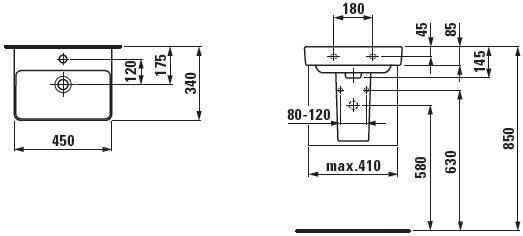Laufen Pro S 450x340mm Washbasin White