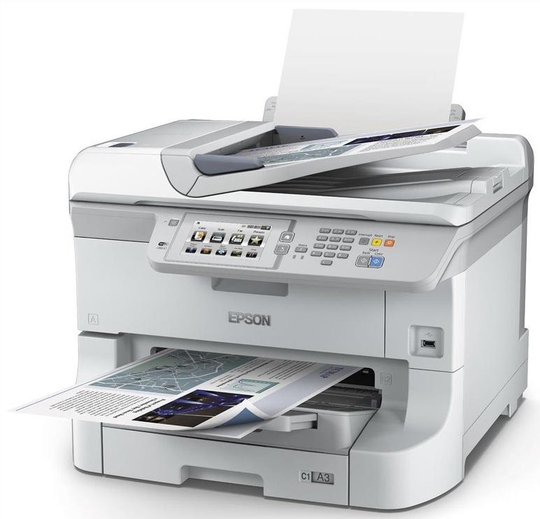 Многофункциональный принтер Epson WorkForce Pro WF-8590DWF, струйный, цветной