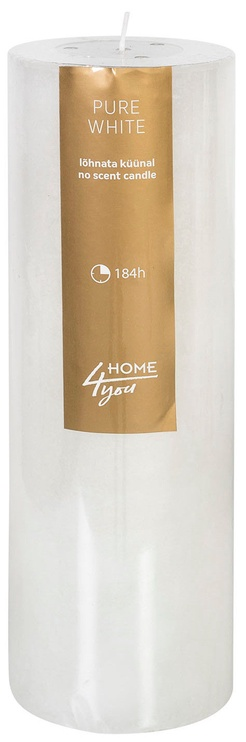 Home4you Candle Pure White D10xH30cm White