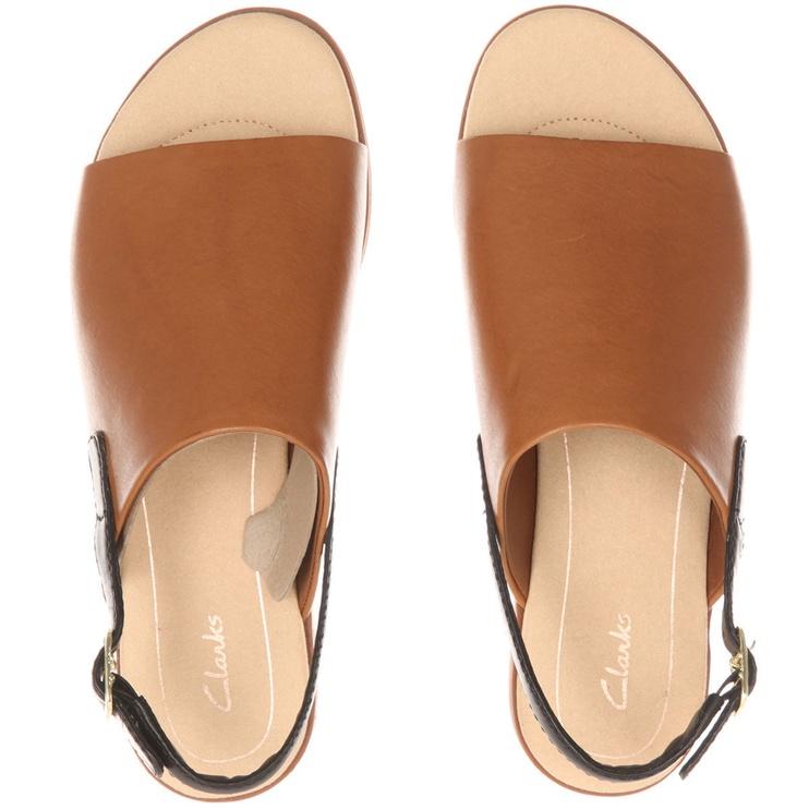 Clarks 26131939 Bay Jasmine Tan Leather 41