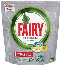 Trauku mazgājamās mašīnas kapsulas Fairy All in 1 Platinum Lemon, 70 gab.