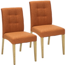Home4you Chairs Enrich 2 pcs Orange