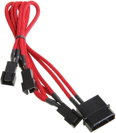 BitFenix Molex to 3 x Fan Adapter Cable Red/Black
