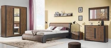 Guļamistabas mēbeļu komplekts Bogfran Naomi Walnut, valriekstu