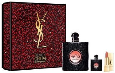 Духи Yves Saint Laurent Black Opium EDP 50 мл + EDP 7.5 мл + Губная помада