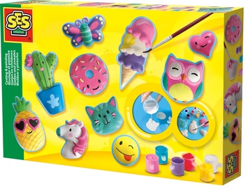 Dekoravimo rinkinys SES Creative Casting And Painting Happy Figures 01133