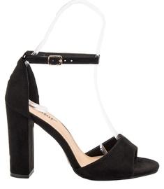 Czasnabuty Suede Heel Sandals Black 37