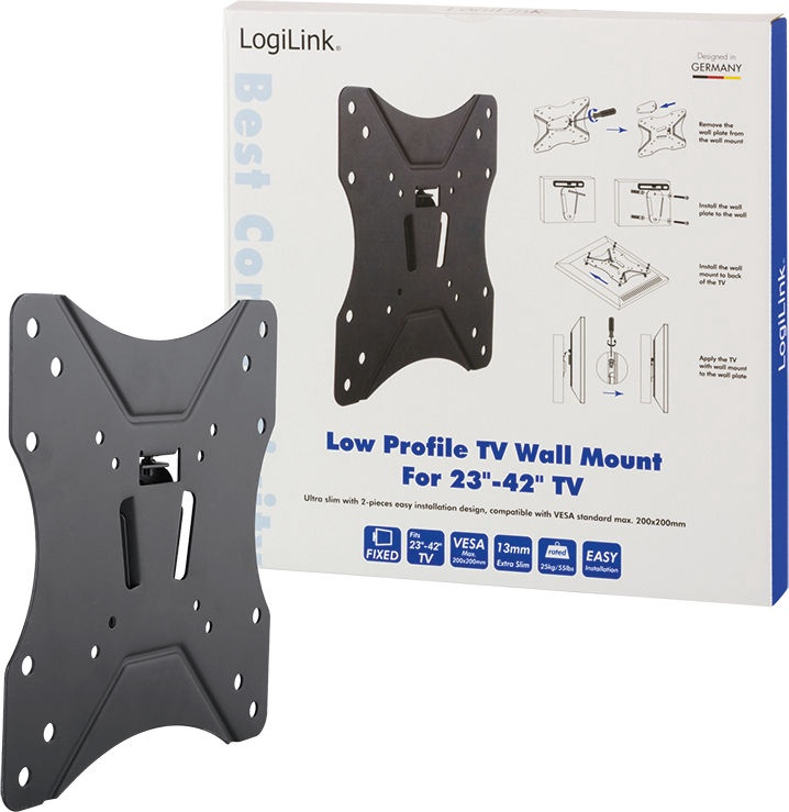 """Televizoriaus laikiklis LogiLink BP0004 TV Wall Mount 23-42"""""""