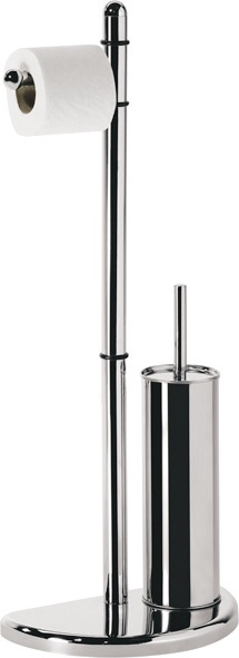 Gedy Hibiscus Bathroom Paper And Toilet Brush Holder Chrome