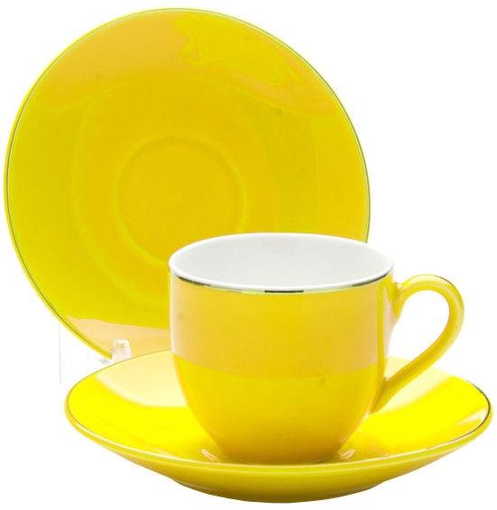 Mayer & Boch Cup Set 4pcs Yellow 8cl 24751