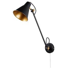 LAMPA SIENAS WALL 6302BK 60W E27