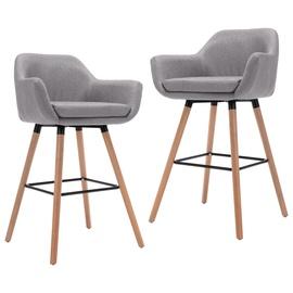 Барный стул VLX Fabric 249572, светло-серый, 2 шт.