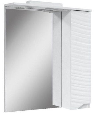 Vannas istabas skapis ar spoguli Sanservis Atlanta-60 White 60x81.5x17cm