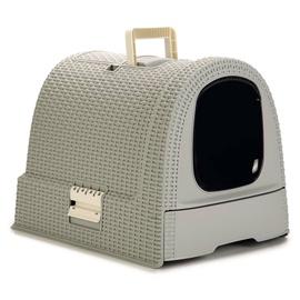 Кошачий туалет Curver Cat Litter Box, серый, закрытый, 510x385x395 мм