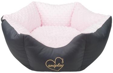 Amiplay Babydoll Crown Bed L 68x23cm Pink