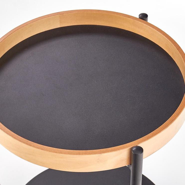 Kafijas galdiņš Halmar Rolo Natural Oak/Black, 440x440x550 mm
