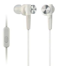 Ausinės Sony XB50AP EXTRA BASS In-Ear Headphones White