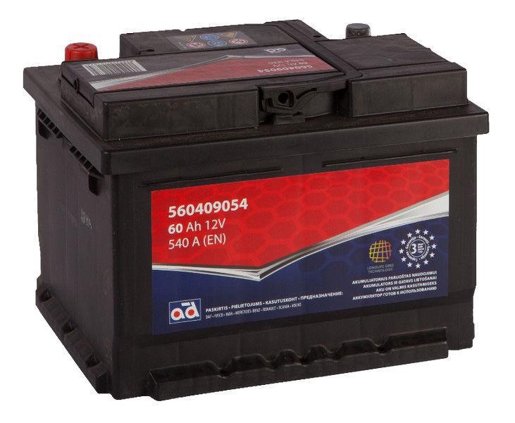 Аккумулятор AD BALTIC 560409054, 12 В, 60 Ач, 540 а