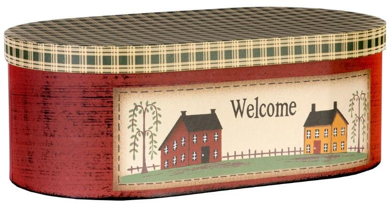 Home4you Cardboard 22x40xH14cm Love Home 1 Mix