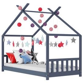 Детская кровать VLX Solid Pine Wood 283370, серый, 146x78 см