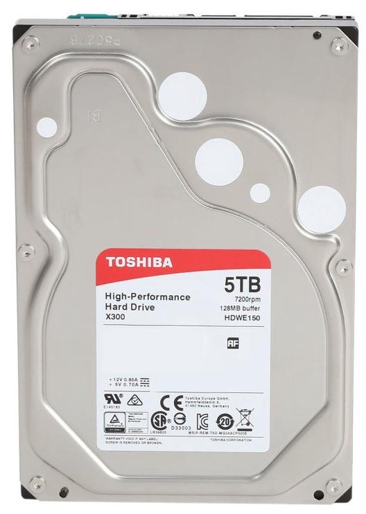 Toshiba X300 5TB 7200RPM SATA III 128MB HDWE150EZSTA