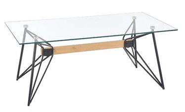 Kafijas galdiņš Halmar Allegra Black, 600x1100x450 mm