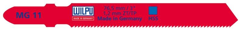 Figūrzāģa asmeņi Wilpu MG 11-2/02550, 2gab.