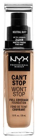 NYX Can't Stop Won't Stop Full Coverage Foundation 30ml Neutral Buff
