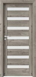 Полотно межкомнатной двери PORTAVERTE D7, дубовый, 203 см x 84.4 см x 4 см