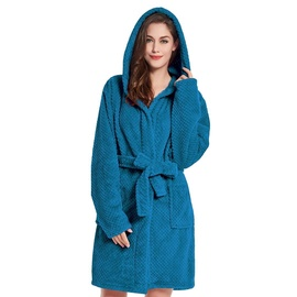 Халат DecoKing Sleepyhead, синий/зеленый, XL