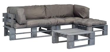 Комплект уличной мебели VLX Garden Lounge Set 275312, серый, 3 места