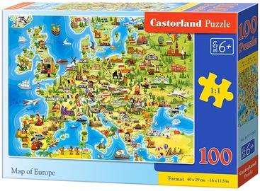 Пазл Castorland Map of Europe B-111060, 100 шт.
