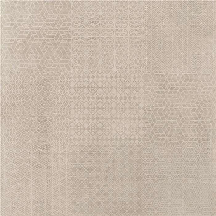 Akmens masės dekoruotos plytelės Linum Decor White, 75 x 75 cm