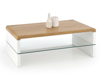 Kohvilaud Kontex, valge/tamm, 110 x 60 x 41 cm