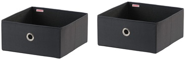 Leifheit Cloth Small Box 2PCS 27.5x28x13cm Black/Combi System