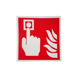 Ugunsdrošības zīme SIGN-STICKER FIRE ALARM 130X130