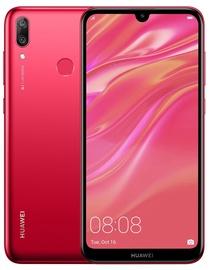 Mobilusis telefonas Huawei Y7 2019 Coral Red, 32 GB