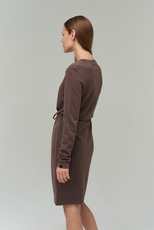Audimas Merino Bamboo Blend Dress Peppercorn M